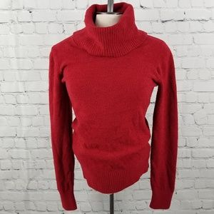 DALIA   red chenille long sleeve turtleneck top